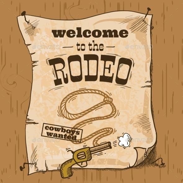GraphicRiver Rodeo Retro Poster 9275820