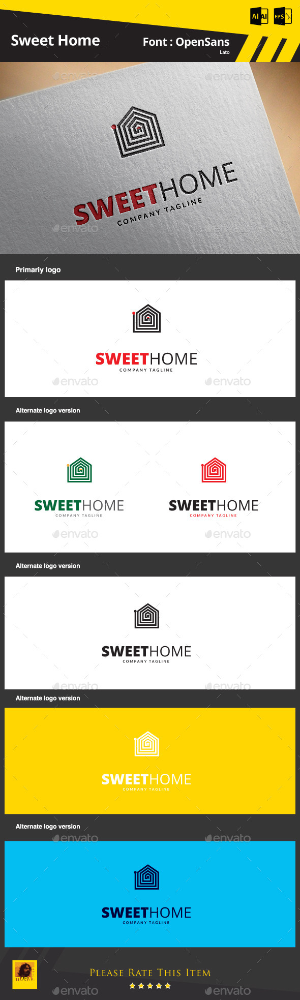 GraphicRiver Sweet Home Logo Template 9275827
