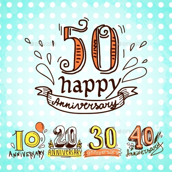 GraphicRiver Anniversary Signs Set 9275840