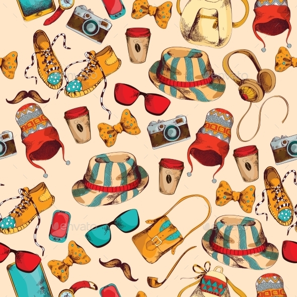 GraphicRiver Hipster Seamless Pattern 9275848