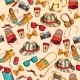 Hipster Seamless Pattern - GraphicRiver Item for Sale