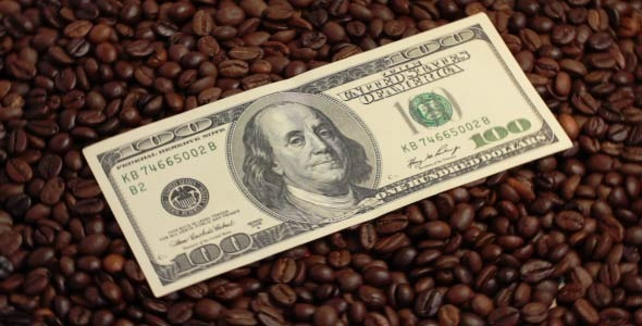 Rotating Coffee Beans And U.S Dollars 1
