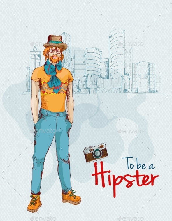 GraphicRiver Hipster Boy City 9275905