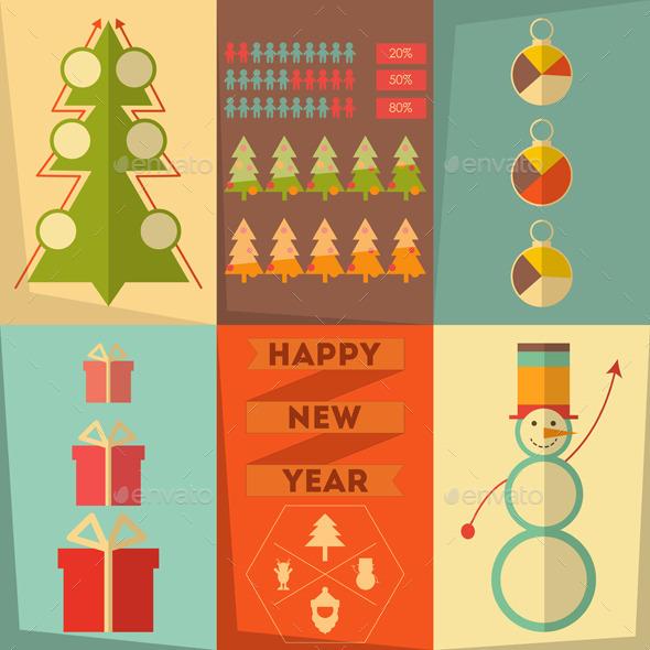 GraphicRiver Christmas Infographic 9275906