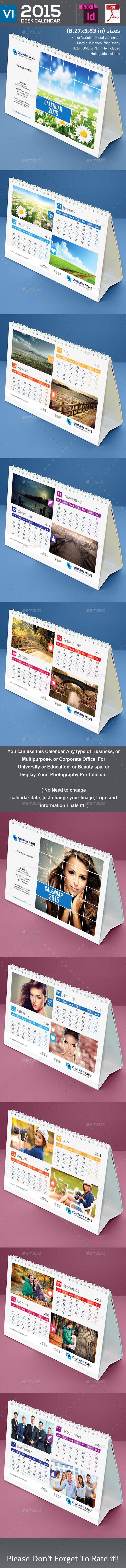 GraphicRiver 2015 Desk Calendar V1 9237357
