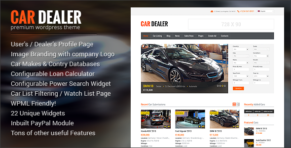 ThemeForest Car Dealer Auto Dealer Responsive WP Theme 8574708