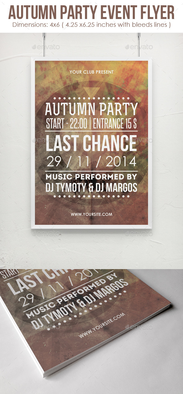 GraphicRiver Autumn Party Event Flyer 9276250