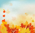 Vintage autumn background with colorful leaves.  - PhotoDune Item for Sale