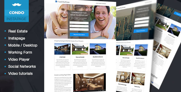 ThemeForest Condo Real Estate Lead Generation Template 9276487