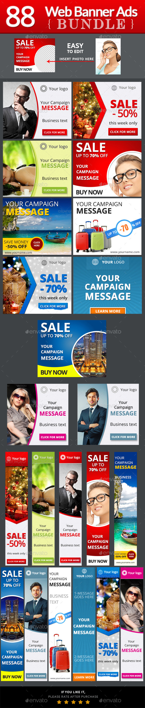 GraphicRiver Web Banner Ads Bundle 9276503