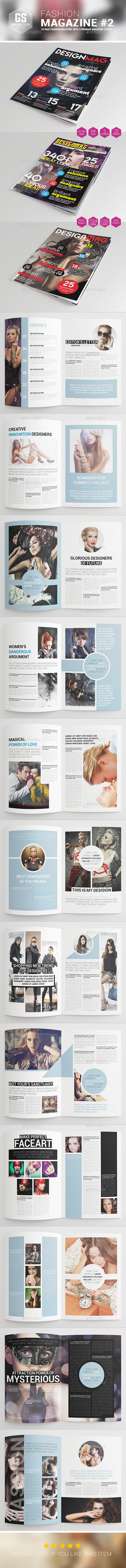 GraphicRiver Fashion Magazine #2 9276566