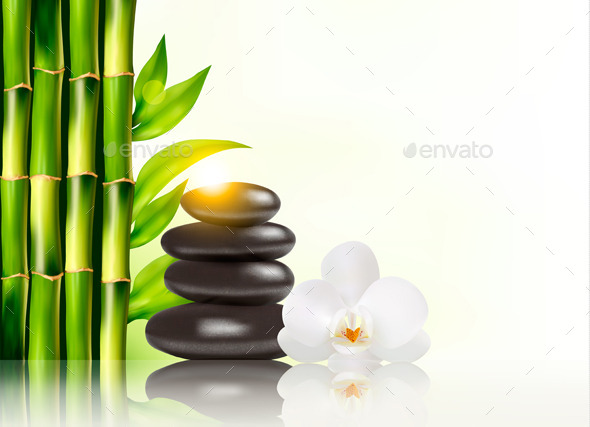 GraphicRiver Spa Background with Bamboo and Stones 9276682