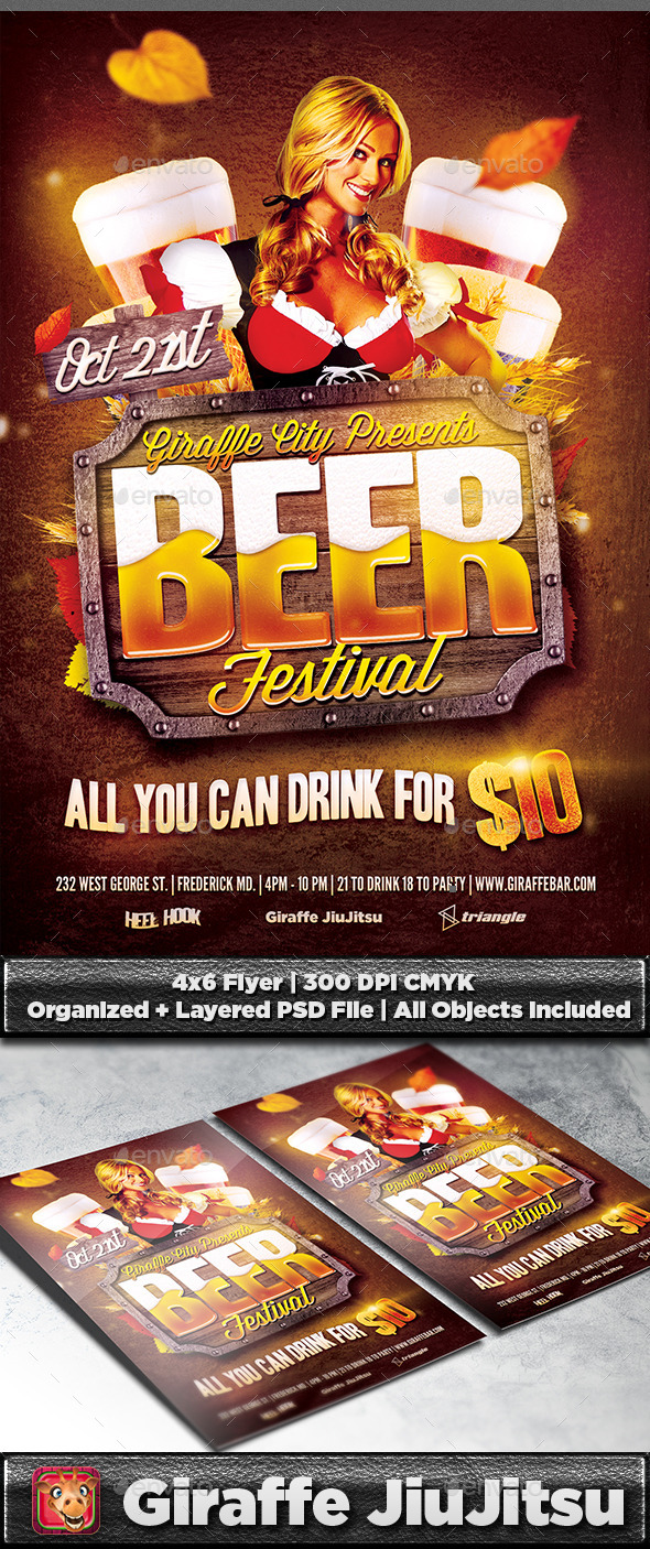 GraphicRiver Beer Festival Flyer Template 9235472