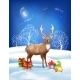 Vector Christmas Winter Night Background - GraphicRiver Item for Sale