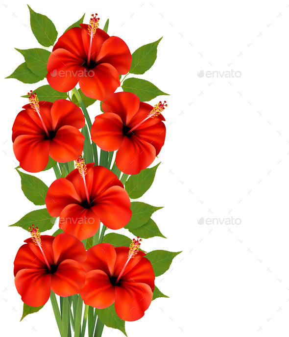 GraphicRiver Background with Red Flowers 9276803