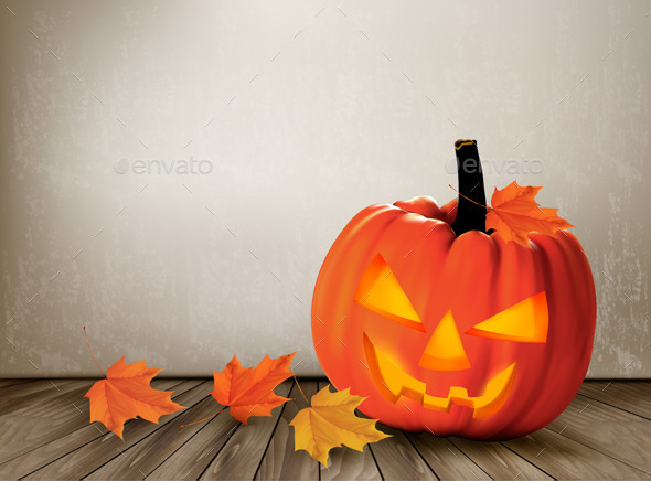 GraphicRiver Halloween Background with a Jack O Lantern 9276835