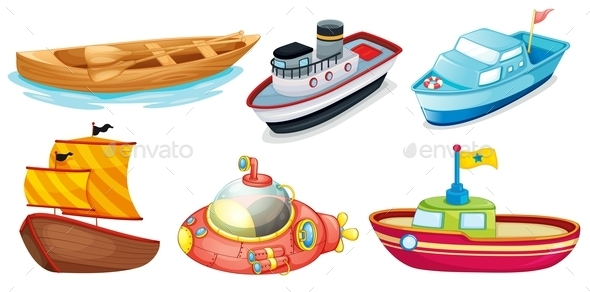 GraphicRiver Different Boat Designs 9276900