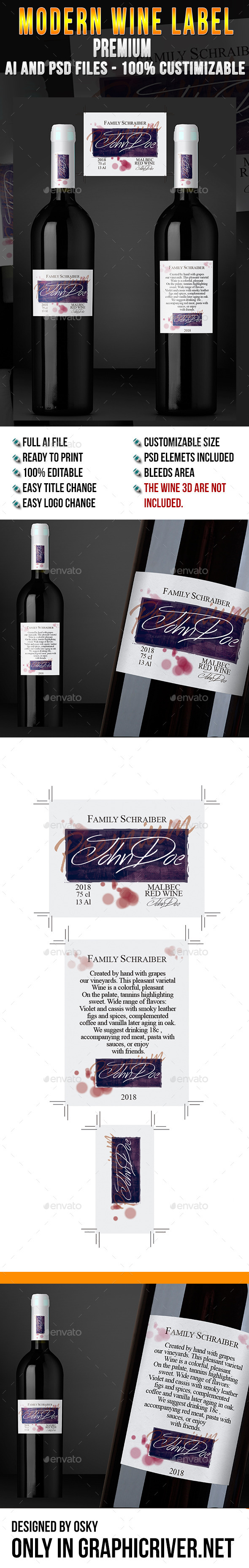 GraphicRiver Modern Wine Label Premium 9276959