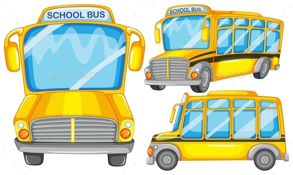 GraphicRiver School Bus 9276961