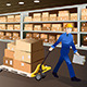 Man Working in a Warehouse - GraphicRiver Item for Sale
