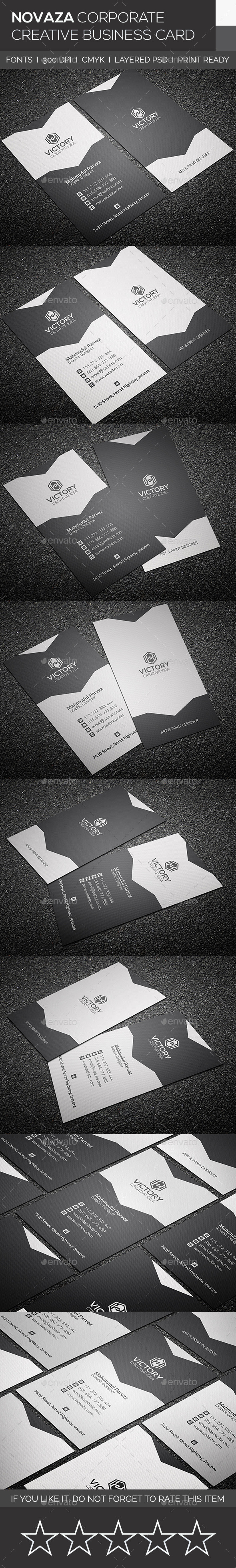 GraphicRiver Novaza Corporate & Creative Business Card 9277015