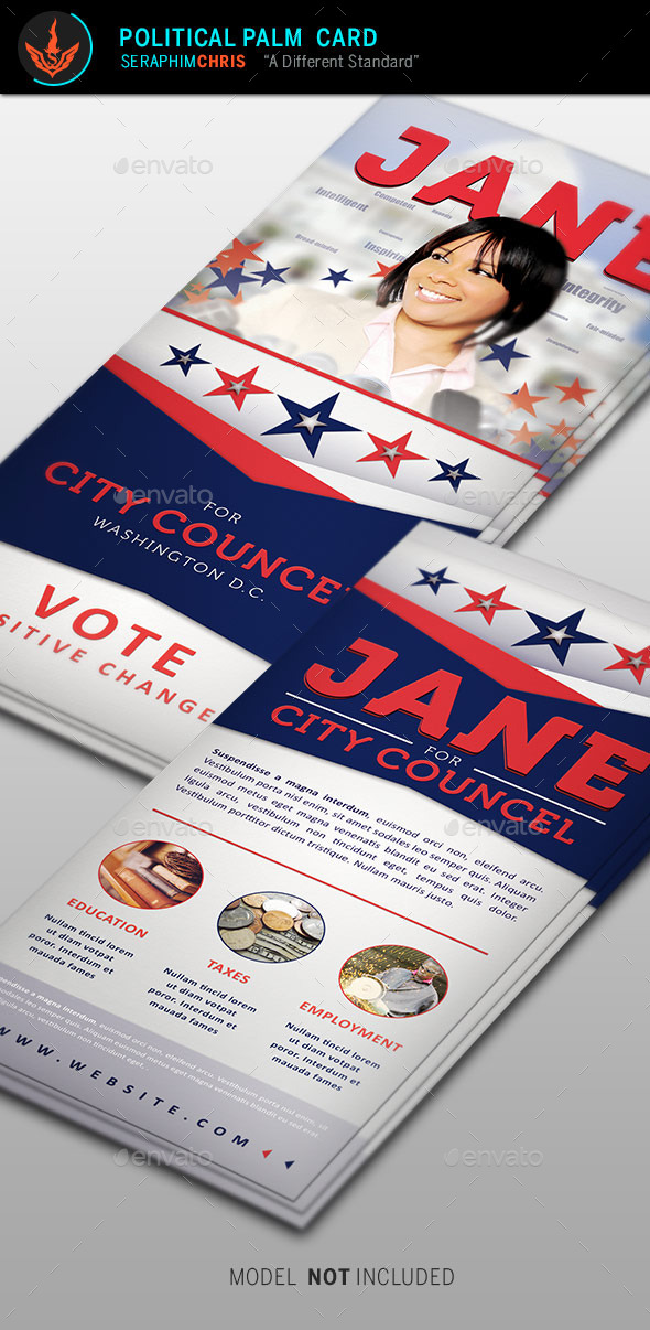 GraphicRiver Jane 2 Political Palm Card Template 9277043