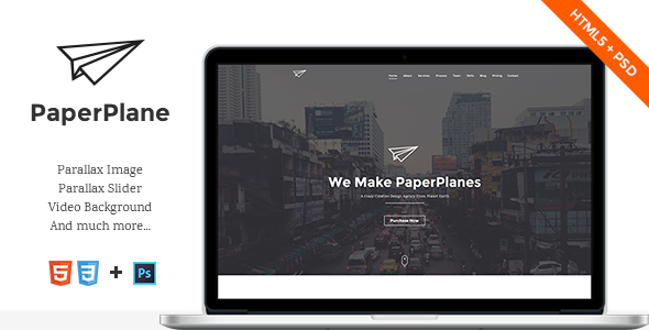 ThemeForest PaperPlane HTML5 Portfolio Template 9239565