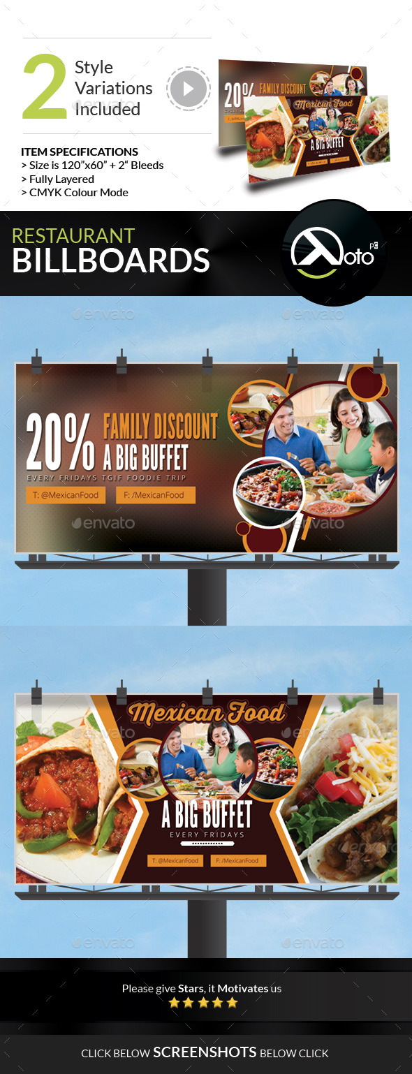 GraphicRiver Mexican Restaurant Promotion Billboard 9234479