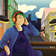 Man Listening to Music - GraphicRiver Item for Sale