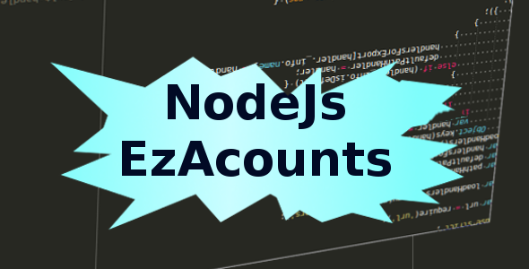 CodeCanyon NodeJs Ez Accounts 9077463