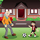 Grandpa and Grandson playing Soccer - GraphicRiver Item for Sale