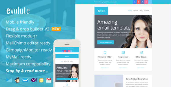 ThemeForest Evolute Responsive Newsletter & Template Editor 9277358