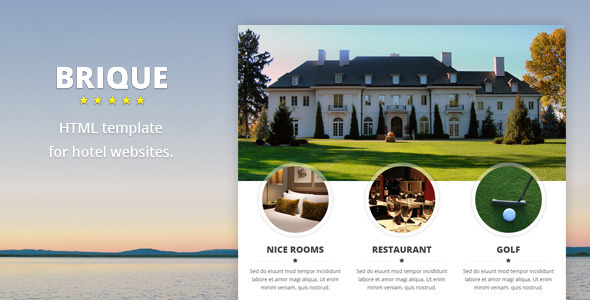 ThemeForest Brique Hotel HTML template 9277462
