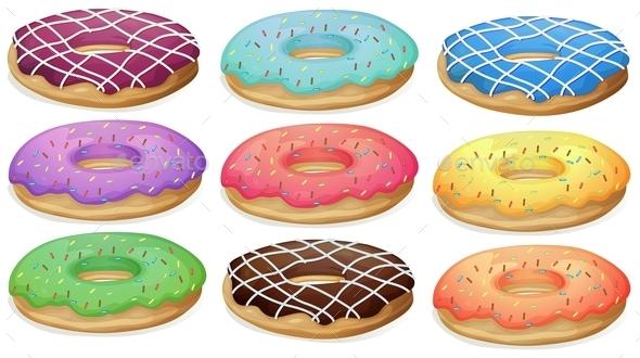 GraphicRiver Donuts 9277471