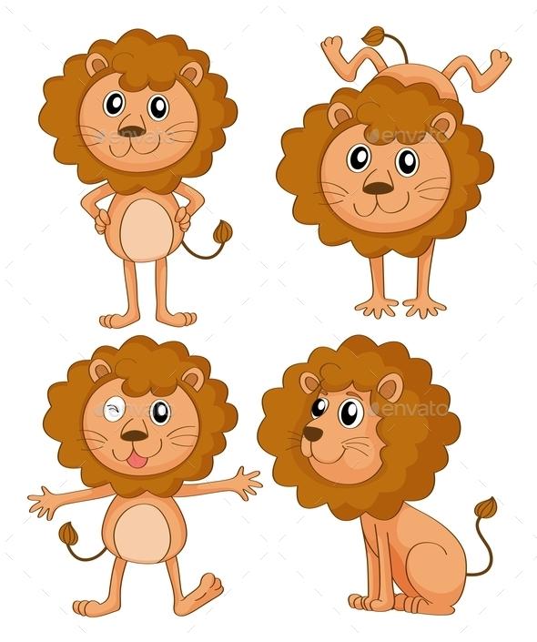 GraphicRiver Four Lions 9277529