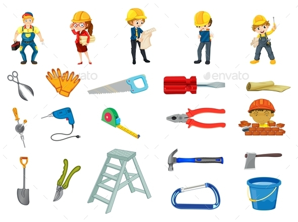 GraphicRiver Construction Worker Set 9277538