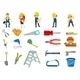 Construction Worker Set - GraphicRiver Item for Sale
