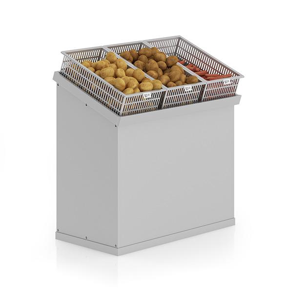 3DOcean Market Shelf Potatoes and carrots 9277576