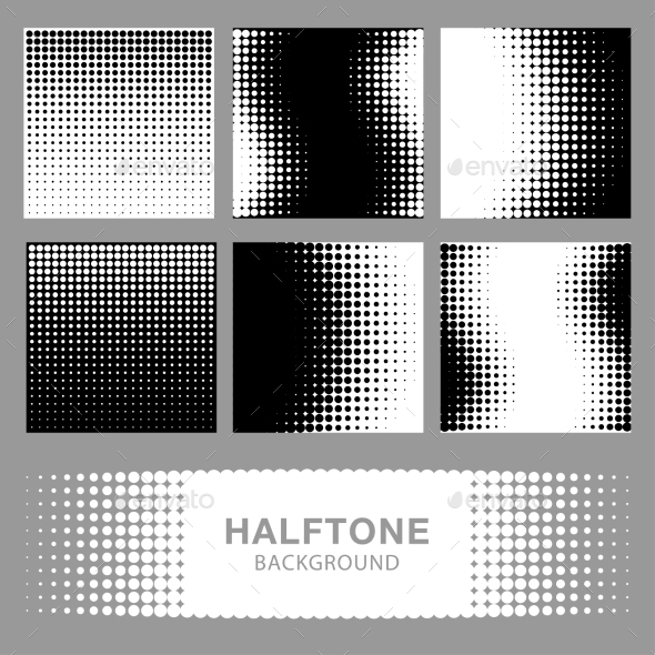 GraphicRiver Set of Abstract Halftone Backgrounds 9277601