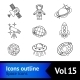 Space Icons Outline Set - GraphicRiver Item for Sale
