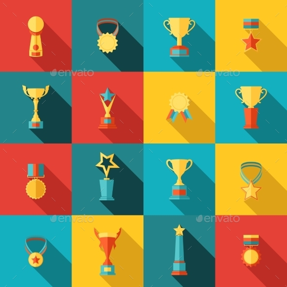 GraphicRiver Trophy Icons Set 9278099