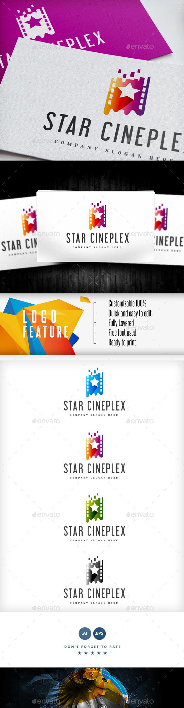 GraphicRiver Star Cineplex Logo 9278108