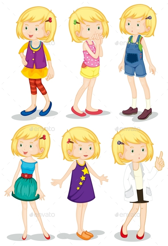 GraphicRiver Young Blonde Girls 9278109