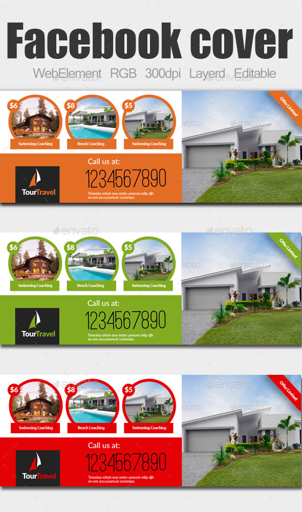 GraphicRiver Real Estate Facebook Covers 9278311