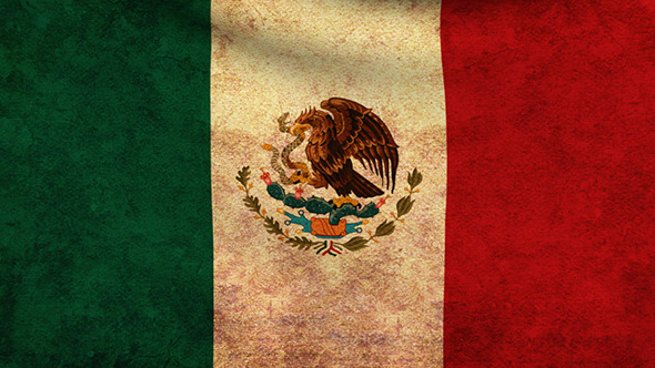Mexico Flag 2 Pack Grunge and Retro