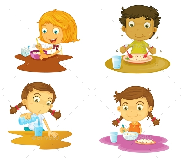 GraphicRiver Kids Having Food 9278483