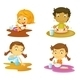 Kids Having Food - GraphicRiver Item for Sale