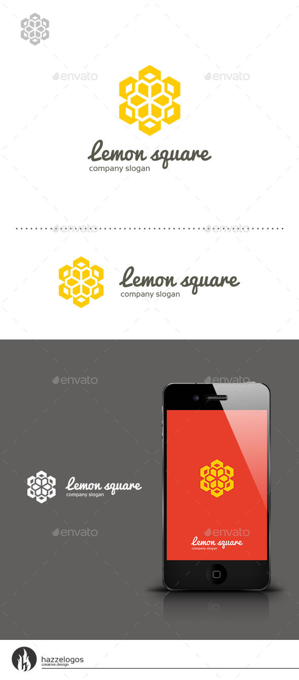 GraphicRiver Lemon Square Logo 9278697