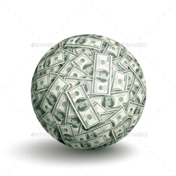 GraphicRiver Dollar Ball 9278781