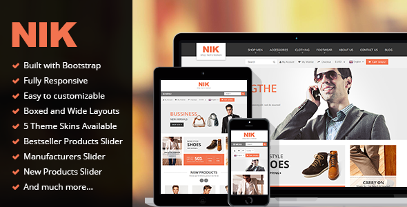 ThemeForest Nik Responsive Multi-Purpose Prestashop Theme 9278864